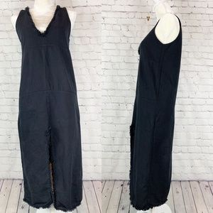 Zara Trafaluc Black Cotton Sleeveless Shift Dress
